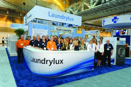 Laundrylux and Electrolux Staff ready for the show!