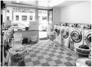 Laundromat in Sweden, 1960