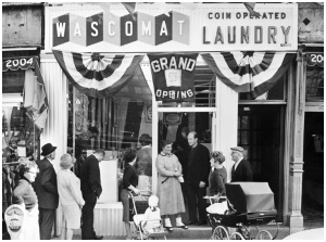 First Wascomat Laundry in NYC 1960