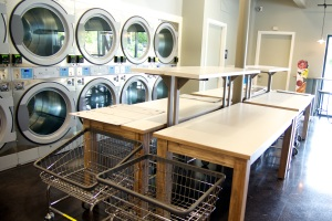 Q Laundry folding areas