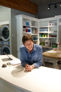 Colleen Owner, owner of Electrolux-equipped Q Laundry, enjoying her success!