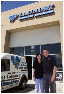 Marty and Gary, owners of Lucy's Laundry