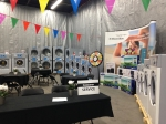 Getting ready for the big show at Ontario Laundry Systems, October 2014.