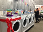 Warren Gibson, General Manager at Ontario Laundry Systems... final touches.