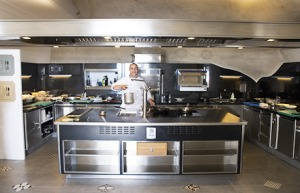 Electrolux's Molteni brand takes center stage at the Carlino restaurant at Hotel San Pietro.