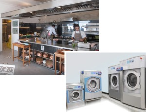 Electrolux Professional Laundry and kitchen equipment at Il Pietro di Positano.