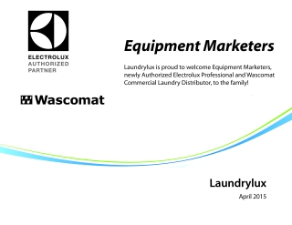Equipment Marketers of New Jersey - New Authorized Electrolux and Wascomat Distributor.