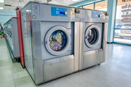 Electrolux soft mount washers at Lucy's Laundromat in California